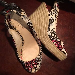 Coach wedges. Worn in good condition.